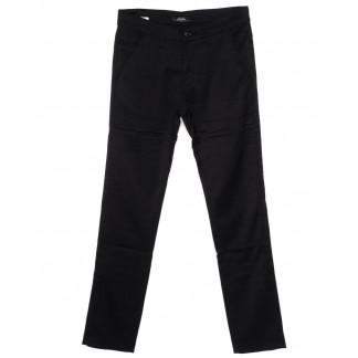 0219-1 Feerars брюки мужские черные осеннии стрейч-котон (29-38, 8 ед.) Feerars: артикул 1098564