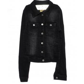 0691-темно серый Hepyek куртка женская джинсовая темно-серая осенняя стрейчевая (S-XL, 4 ед.) Hepyek: артикул 1098774