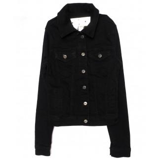0691-черный Hepyek куртка женская джинсовая черная осенняя стрейчевая (S-XL, 4 ед.) Hepyek: артикул 1098775