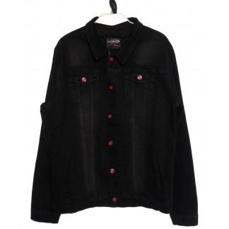 0545-черный Red Moon куртка джинсовая мужская черная осенняя стрейчевая (XL-4XL, 4 ед.) Red Moon: артикул 1098777