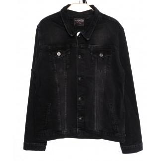 0545-серый Red Moon куртка джинсовая мужская темно-серая осенняя стрейчевая (XL-4XL, 4 ед.) Red Moon: артикул 1098778