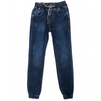 9238 Baron джинсы мужские молодежные на резинке с царапками синие осенние стрейчевые (27-34, 8 ед.) Baron: артикул 1098852