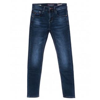 7573 Crossnese джинсы мужские молодежные синие осенние стрейч-котон (27-34, 8 ед.) Crossnese: артикул 1098907