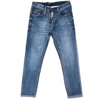 9006 Mark Walker джинсы мужские полубатальные с царапками с подкатом осенние стрейчевые (32-40, 8 ед.) Mark Walker: артикул 1099122