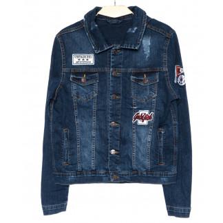 0084 Orjean куртка джинсовая мужская модная синяя осенняя стрейч-котон (S-XL, 4 ед.) Orjean: артикул 1099265