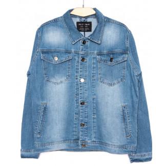 2030-2 In Yesir куртка джинсовая мужская  батальная синяя осенняя стрейч-котон (XL-5XL, 5 ед.) In Yesir: артикул 1099269