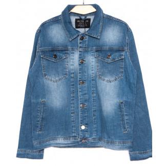 2030-1 In Yesir куртка джинсовая мужская  батальная синяя осенняя стрейч-котон (XL-5XL, 5 ед.) In Yesir: артикул 1099270