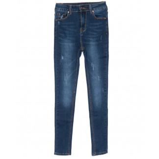 3465 New jeans американка с царапками синяя осенняя стрейчевая (25-30, 6 ед.) New Jeans: артикул 1099321