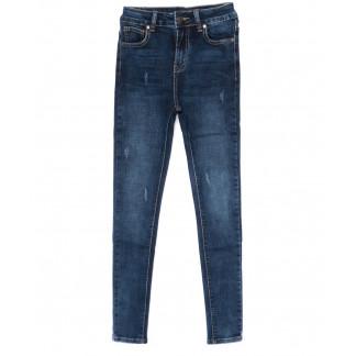 3460 New jeans американка с царапками синяя осенняя стрейчевая (25-30, 6 ед.) New Jeans: артикул 1099330