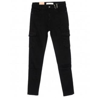 9159-13 M.Sara джинсы женские с карманами черные осенние стрейчевые (26-31, 6 ед.) M.Sara: артикул 1099446