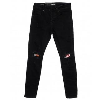 1198 M.Sara джинсы мужские молодежные с рванкой модные осенние стрейчевые (28-36, 6 ед) M.Sara: артикул 1099504