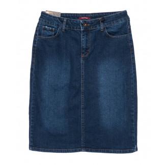 0574 Red Moon юбка джинсовая батальная синяя осенняя стрейч-котон (30-36, 6 ед) Red Moon: артикул 1099581