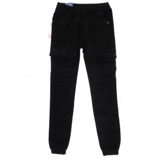 6611 REIGOUSE джинсы мужские молодежные на резинке черные осенние стрейчевые (27-34, 8 ед) REIGOUSE: артикул 1099602