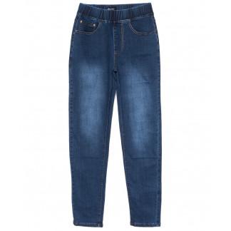 6282 DAWEIDA джинсы женские батальные на резинке синие осенние стрейчевые (30-36, 6 ед) DAWEIDA: артикул 1099612