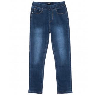 6284 DAWEIDA джинсы женские батальные на резинке синие осенние стрейчевые (32-42, 6 ед) DAWEIDA: артикул 1099616