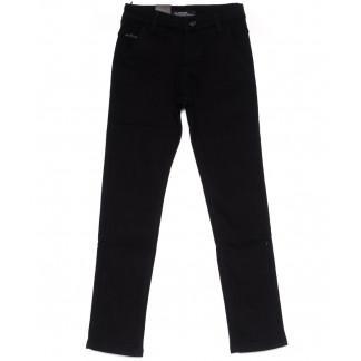 4002-T LS брюки мужские на мальчика черные на флисе зимние стрейч-котон (24-30, 7 ед) LS: артикул 1099723