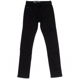4007 LS брюки мужские молодежные черные на флисе зимние стрейч-котон (28-36, 8 ед) LS: артикул 1099727