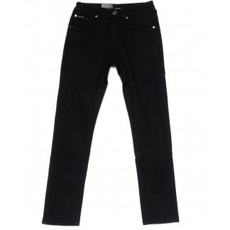 89002-T LS брюки мужские на мальчика черные на флисе зимние стрейч-котон (24-30, 7 ед) LS: артикул 1099728