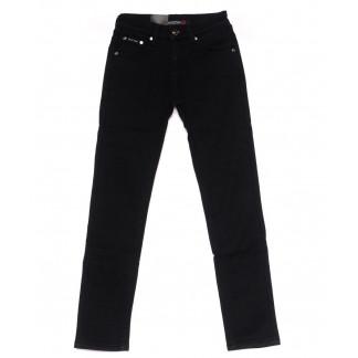 89001-T LS брюки мужские на мальчика черные на флисе зимние стрейч-котон (23-28, 6 ед) LS: артикул 1099729