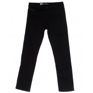 4010 LS брюки мужские полубатальные черные на флисе зимние стрейч-котон (32-38, 8 ед) LS: артикул 1099734