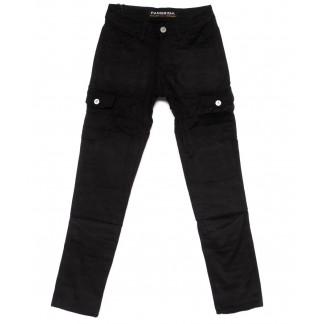 2092 Fangsida джинсы мужские молодежные с карманами черные на флисе зимние стрейч-котон (27-34, 8 ед.) Fangsida: артикул 1099977