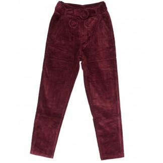2010-3 X брюки женские вельветовые с поясом осенние стрейчевые (S-2XL, 5 ед.) X: артикул 1100138