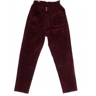 2011-3 X брюки женские вельветовые на резинке осенние стрейчевые (S-2XL, 5 ед.) X: артикул 1100143