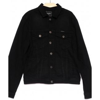 5322 черная Revanj куртка мужская джинсовая батальная осенняя стрейчевая (XL-4XL, 4 ед.) Revanj: артикул 1100221