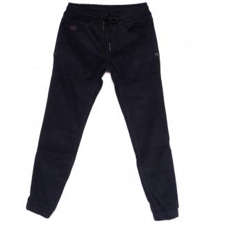 2099 Fangsida джинсы мужские молодежные на резинке темно-синие на флисе зимние стрейчевые (28-36, 8 ед.) Fangsida: артикул 1100352