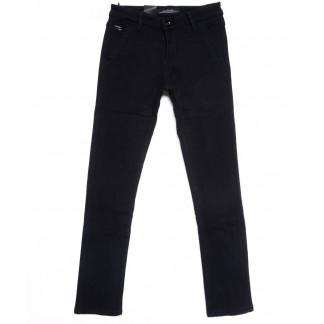 2734-X LS джинсы мужские молодежные на резинке темно-синие на флисе зимние стрейчевые (27-34, 8 ед.) LS: артикул 1100616
