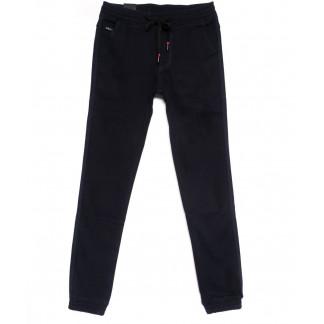 4031-A LS брюки мужские молодежные темно-синие на флисе зимние стрейчевые (27-34, 8 ед.) LS: артикул 1100622