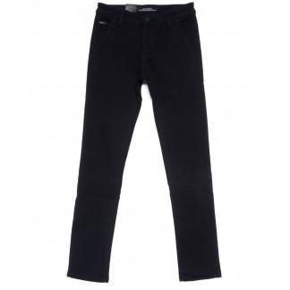 4017-X LS брюки мужские молодежные темно-синие на флисе зимние стрейчевые (27-34, 8 ед.) LS: артикул 1100624