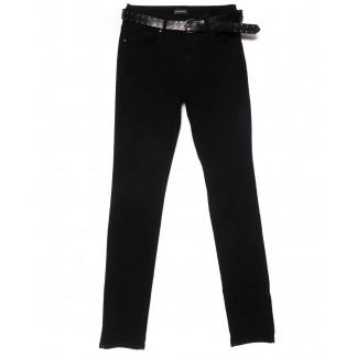 2189-B-686 A.N.G. джинсы женские зауженные полубатальные черные на байке зимние стрейчевые (28-33, 6 ед.) A.N.G.: артикул 1101545