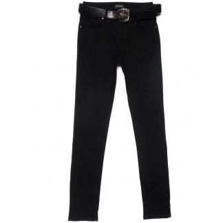 2185-B-686 A.N.G. джинсы женские зауженные полубатальные черные на байке зимние стрейчевые (28-33, 6 ед.) A.N.G.: артикул 1101547