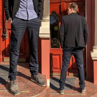 7751-H218 Prodigy брюки мужские полубатальные темно-серые весенние стрейчевые (32-38, 7 ед.) Prodigy: артикул 1106779