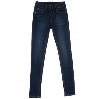 0151 (L151) Lelena джинсы женские зауженные синие на байке зимние стрейчевые (25-30, 6 ед) Lelena: артикул 1101755