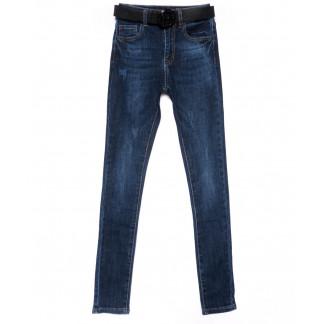 9393 LDM джинсы женские синие с царапками осенние стрейчевые (25-30, 6 ед.) LDM: артикул 1102037