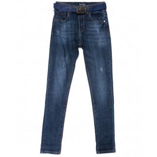 9384 LDM джинсы женские синие с царапками осенние стрейчевые (25-30, 6 ед.) LDM: артикул 1102040