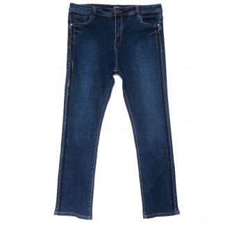 1490 Lady N джинсы женские батальные со стразами синие осенние стрейчевые (32-42, 6 ед.) Lady N: артикул 1102053