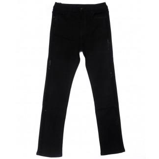 1486 Lady N джинсы женские батальные со стразами черные осенние стрейчевые (32-42, 6 ед.) Lady N: артикул 1102054