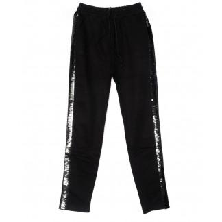 5107-1 Yimeite брюки женские полубатальные черные со стразами на байке зимние стрейчевые (28-33, 6 ед.) Yimeite: артикул 1102086