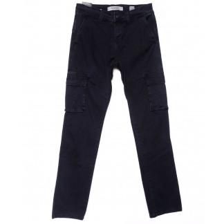 2100-68 M.Sara. брюки мужские карго темно-синие осенние стрейчевые (30-40, 10 ед.) M.Sara: артикул 1102140