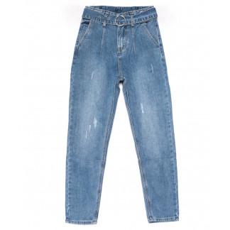 3606 New jeans мом голубой с царапками весенний коттоновый (25-30, 6 ед.) New Jeans: артикул 1102237