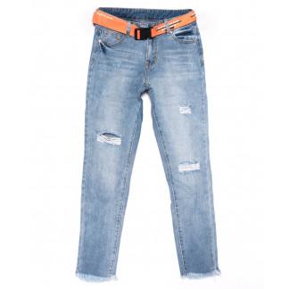 3588 New jeans мом голубой с царапками весенний коттоновый (25-30, 6 ед.) New Jeans: артикул 1102242