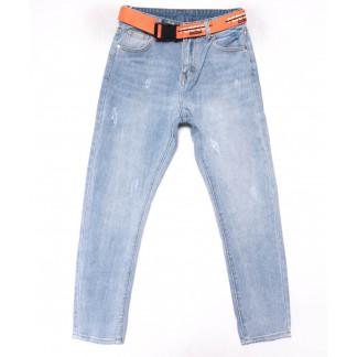 3615 New jeans мом голубой с царапками весенний коттоновый (25-30, 6 ед.) New Jeans: артикул 1102244