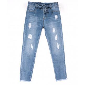 3592 New jeans мом голубой с царапками весенний коттоновый (25-30, 6 ед.) New Jeans: артикул 1102253