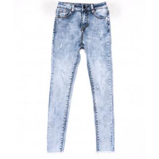 3601 New jeans американка голубая с царапками весенняя стрейчевая (25-30, 6 ед.) New Jeans: артикул 1102260