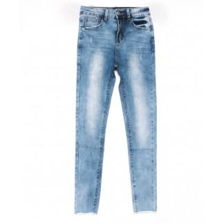 3572 New jeans американка голубая весенняя стрейчевая (25-30, 6 ед.) New Jeans: артикул 1102266