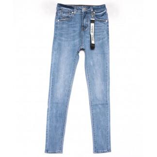 3574 New jeans американка голубая с царапками весенняя стрейчевая (25-30, 6 ед.) New Jeans: артикул 1102268