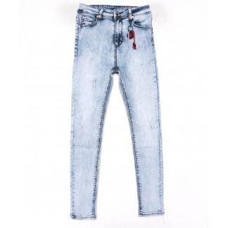 3576 New jeans американка голубая с царапками весенняя стрейчевая (25-30, 6 ед.) New Jeans: артикул 1102269